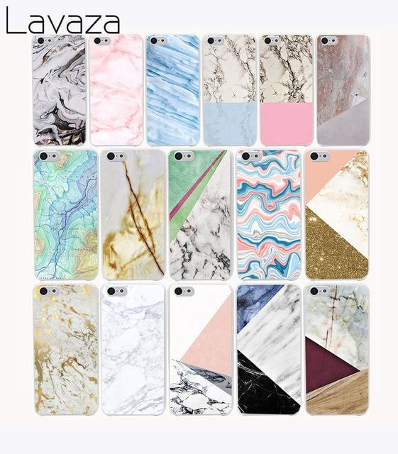 Lavaza 606G Chic Marble Print Hard Case Cover for iPhone 8 X 7 7 plus 4 4s 10 5 5s 5c SE 6 6s Plus case covere