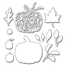 2018 New Halloween Pumpkin Leaves Pattern Metal Cutting Dies Scrapbooking Craft Dies DIY Metal Cutting Stencil Dies(China)