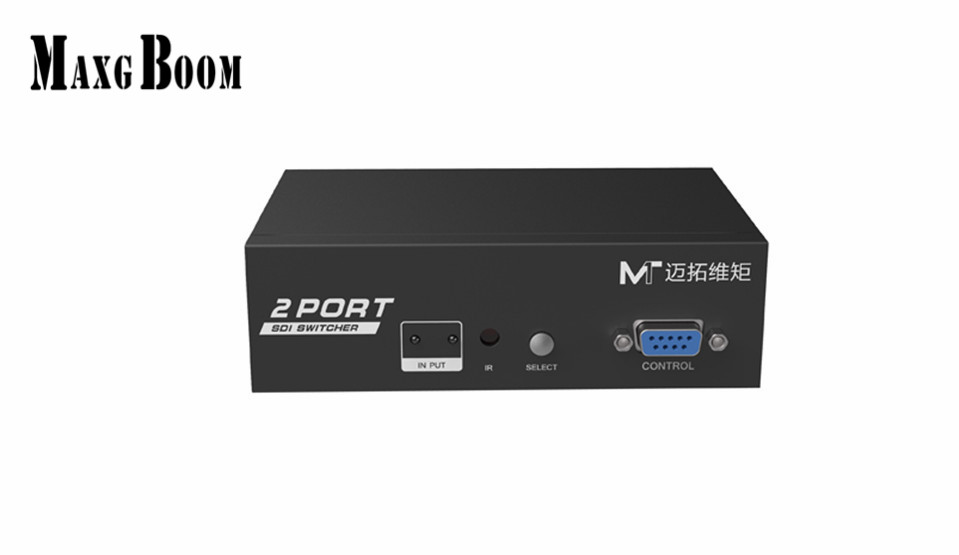 MaxgBoon MT-SD201 SDI 2 in 1 out switch SD/HD/3G- SDI signal, support SDI rate from 143MBs to 2970 MBs Support SDI 300m itap 143 2 редуктор давления