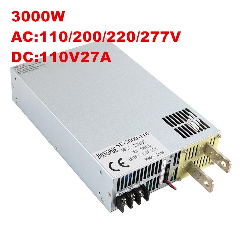 3000W 110V27A DC 0-110v power supply 110V 27A AC-DC High-Power PSU 0-5V analog signal control se-3000-110 DC110V цена