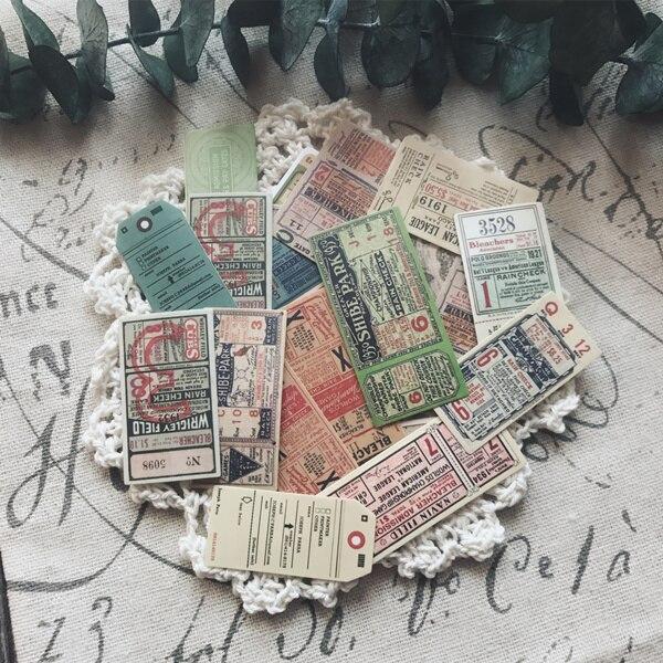 Kljuyp 22 adesivos de papel de bilhete retro dos pces para scrapbooking planejador feliz/cartão que faz/projeto de jornaling