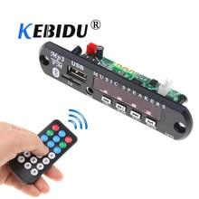 Kebidu Bluetooth USB MP3 Power Supply FM Radio MP3 Decoder Board DC 12V Audio Module For Car Remote Music Speaker