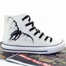 Death Note Cosplay Mismos zapatos de lona zapatos Casuales Alta ayuda zapatos de Los Amantes de hombres y mujeres a mano alzada Estudiante zapatos de Tamaño 35-43