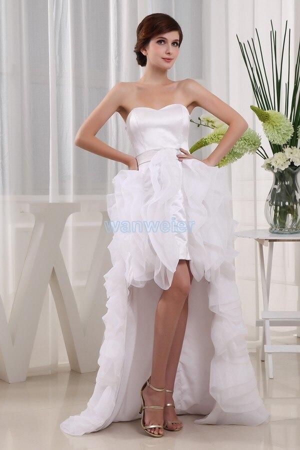 Livraison gratuite 2013 nouveau design offre spéciale court avant long dos occasions spéciales formelle taille personnalisée blanc sexy robes de bal