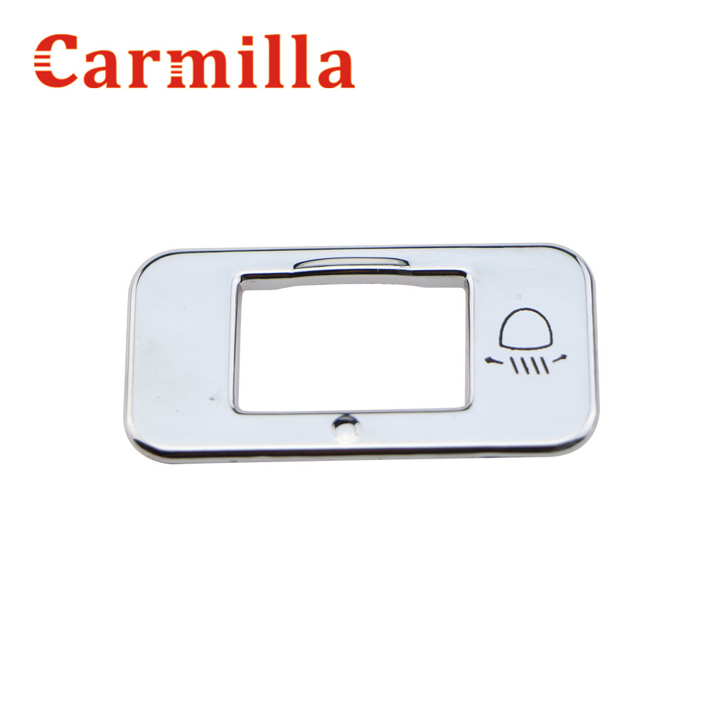 Carmilla For <font><b>Peugeot</b></font> 2008 <font><b>208</b></font> Headlight Adjust Switch Decoration Trim for <font><b>Peugeot</b></font> 3008 Car Lights <font><b>Chrome</b></font> Adjust Switch Sticker image
