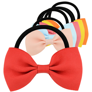 Multicolor Bowknot Colorful Elastic Hair Bands Girls Ribbon Bows Girls Hair Circle Tie Rope Hair Accessories Headwear Holiday Gi 1