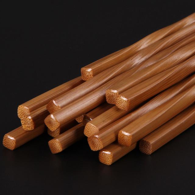 Creative Handmade Eco-Friendly Carbonized Bamboo Chopsticks