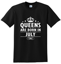 Queens Are Born In July Womens T-ShirtStreetwear Funny Print Clothing Hip-Tope Mans T-Shirt Tops Tees Fashion T-Shirts Summer