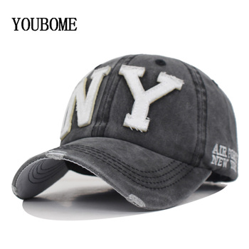item image - YOUBOME New Washed Cotton Baseball Cap Men Snapback Cpas Hats For Women Dad Hat Bone Embroidery Casual Casquette Hip Hop Sun Cap
