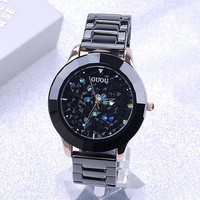 Genuine Black Ceramic Watchband Really High End Fashion Personality Full Diamond Watch Lady Fashion Diamond Watch