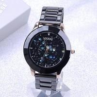Genuine Black Ceramic Watchband Really High End Fashion Personality Full Diamond Watch Lady Fashion Diamond Watch