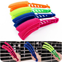 Removable Washable Microfibre Cleaning Brush Clip Window Blinds Brush Cleaner For Window Leaves Car Air Outlet