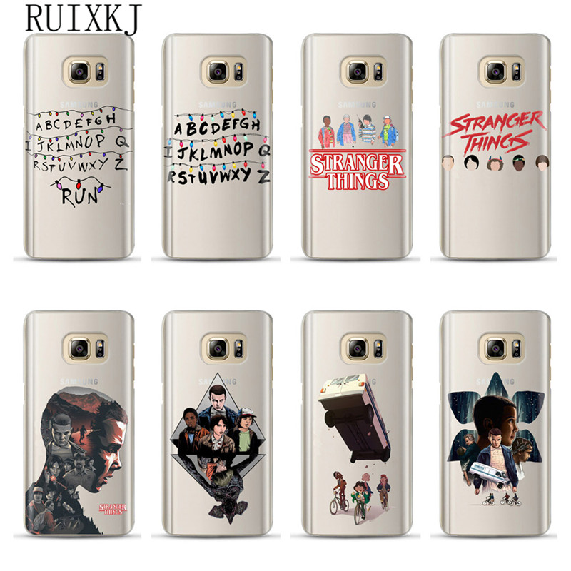RUIXKJ Stranger Things Case For Samsung Galaxy Grand Prime S6 S7 Edge S8 S9 Plus J3 J5 J7 A3 A5 A7 2016 2017 A8 Plus 2018 Cover image