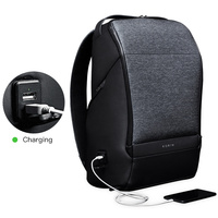 Kingsons Mini Backpack Men Krion FlexPack 15 Inch Laptop Bagpack Duffle Lock USB Charging Back Pack for Teenager Boys Travel Bag