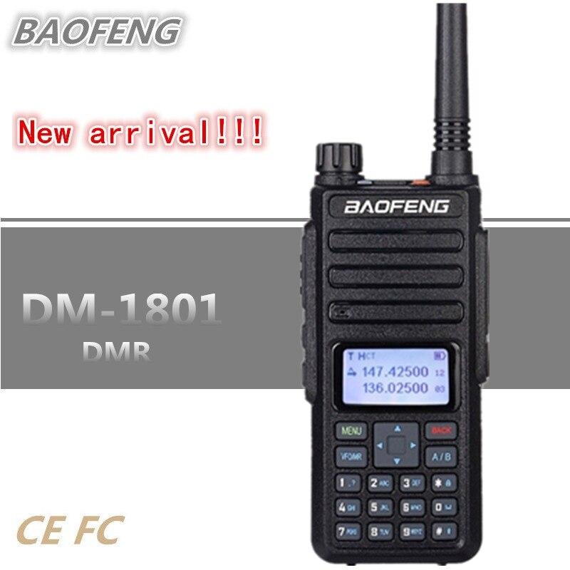 2018 BAOFENG DMR DM-1801 Digital Walkie Talkie UHF VHF Radio Tier I/ II Digital Analog Dual Mode HF Transceiver DM-5R tg-uv22018 BAOFENG DMR DM-1801 Digital Walkie Talkie UHF VHF Radio Tier I/ II Digital Analog Dual Mode HF Transceiver DM-5R tg-uv2