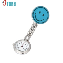 OTOKY Hot Unique   Nurse Pocket Fob Watches Clip-on Fob Brooch Pendant Hanging Smile Face Watch Pocket Watch Drop ship F12