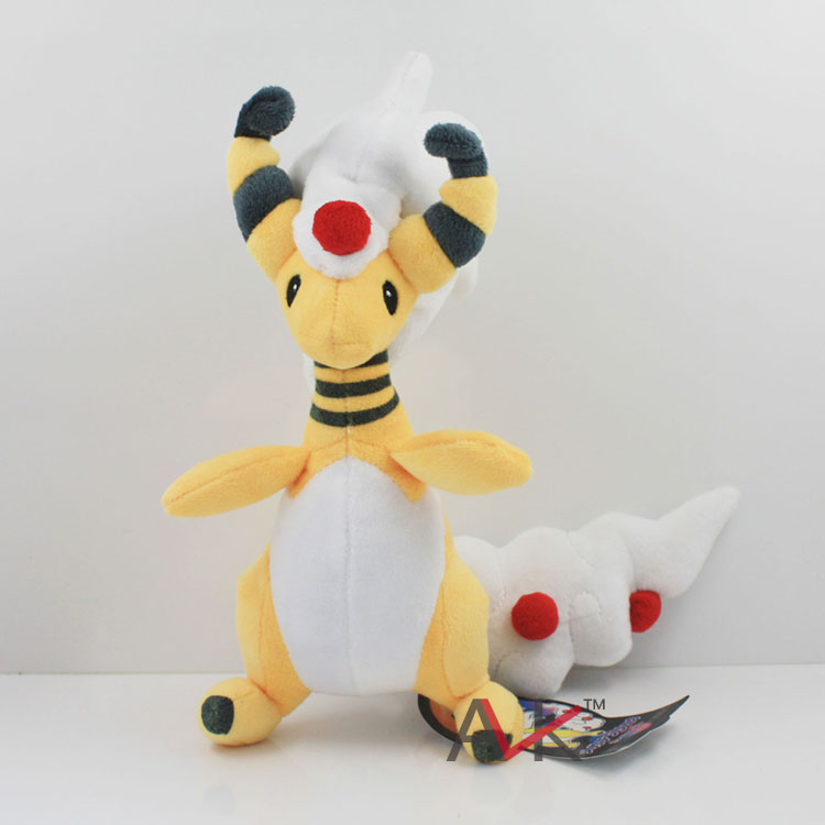 Cartoon plush toys Mega XY Ampharos Cartoon soft stuffed dolls Pikachu cute Animals Plush Doll for children Gift 38cm plush whales toys with soft pp cotton creative stuffed animal dolls cute whales toys fish birthday gift for children