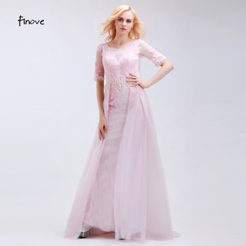 Elegant Romantic Pink Wedding Gowns: Finove Romantic Pale Pink Bridesmaid Dresses Elegant