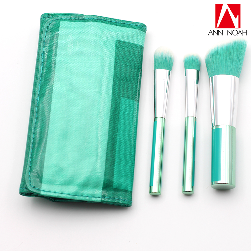 New Collection Emerald Metal Handle Synthetic Fiber 3pcs Spectra Blush Blend Eye Makeup Brush Set Roll element emerald collection свитер