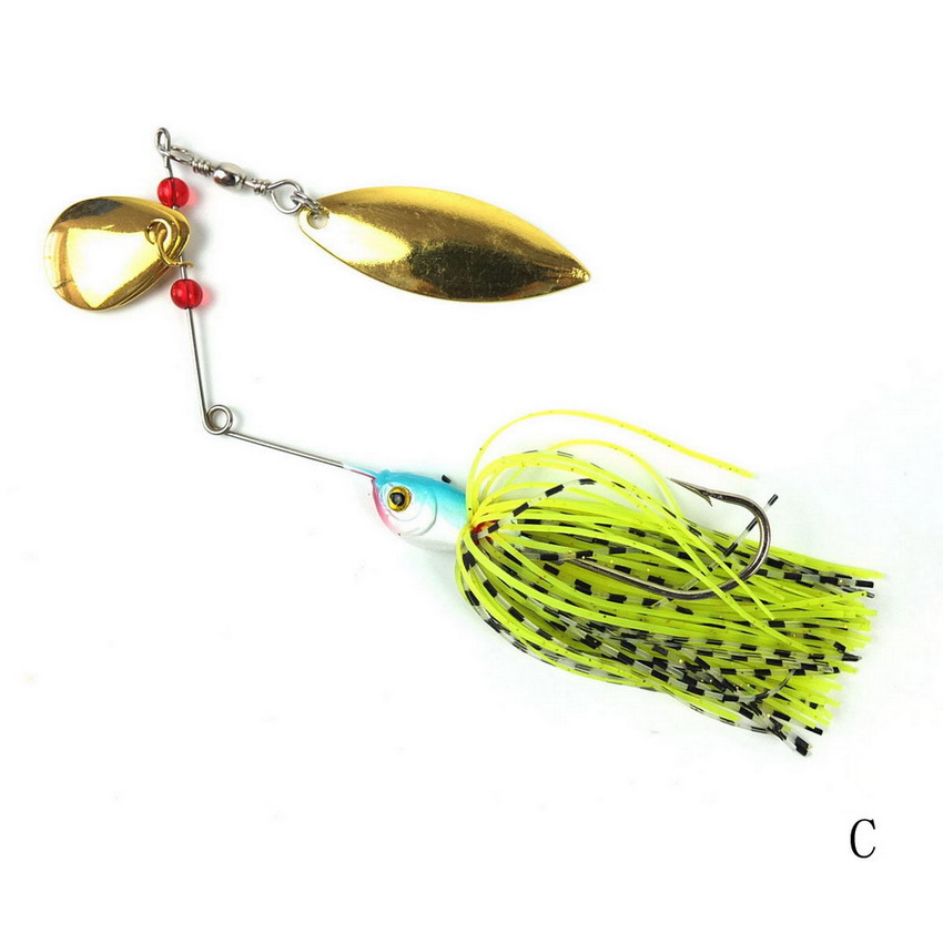 1 pcs spinner bait metal lure hard fishing lure spinner for How to make a fishing spinner