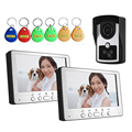 Video Doorbell 7 Inches Video Door phone Door Entry System with Key 1 Camera & 2 Monitor