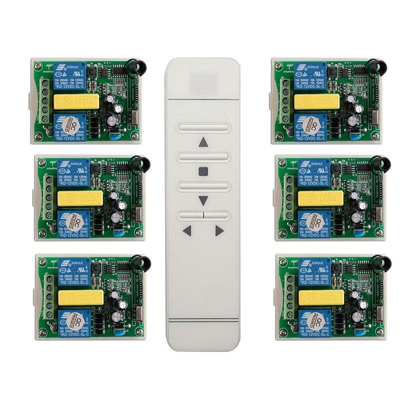 Трубчатый мотор двери гаража/проекционный экран/жалюзи AC 220 V RF беспроводной пульт дистанционного управления переключатель цифровой дисплей экран|Пульты ДУ|   | АлиЭкспресс