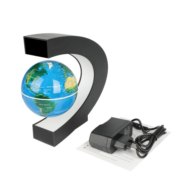USB illuminating school teaching supplies suspension anti-gravity earth magnetic levitation globe home desk decoration 6