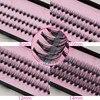 Groothandel 60 packs/lot Pro 57 Knopen 20 Haren Black Individuele Valse Wimpers Eye Lash Make Extension Kit 8mm 10mm 12mm 14mm