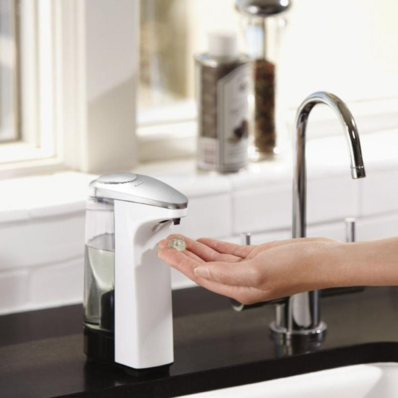 Automatic Soap Dispenser Pump HandsFree Touchless Sanitizer Bathroom Dispenser Pump Sensor Liquid Soap Dispenser for Kitchen 300ml automatic liquid soap dispenser 5 mode adjustable touchless sanitizer smart sensor hand washing machine for hotel bathroom