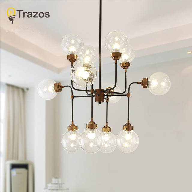 TRAZS Modern Glass Pendant Light Nordic Dining Room Kitchen Light Designer Hanging Lamps Avize Lustre Lighting pendant light