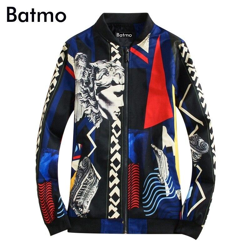 ea09db2c587 Batmo 2019 Новое поступление весна высокого качества с принтом Повседневная  тонкая куртка мужская