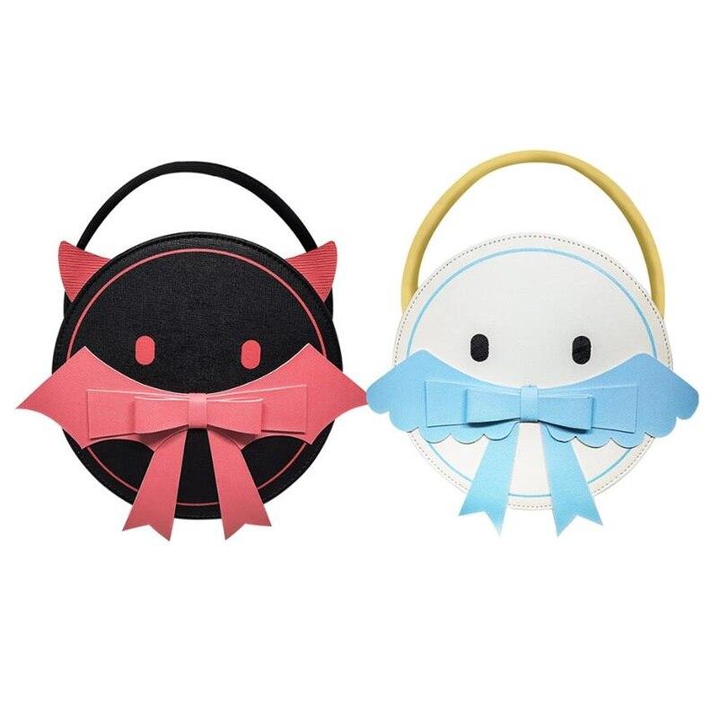 Lolita japonaise Anime diable/ange PU sac à bandoulière fille mignon nœud sac à main sacs Messenger sac