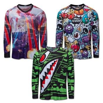 Pro moto/motocross/motocicleta ciclismo camisa da bicicleta de montanha dos homens camiseta mtb wear mx dh roupas downhill ciclismo camisas