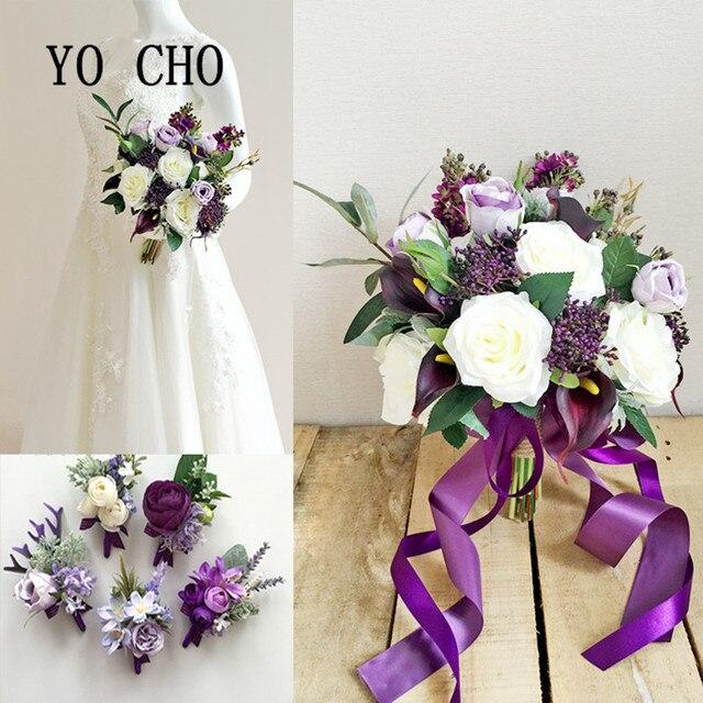 Yo Cho Lila Temperament Corsage Handgelenk Blume Armband Hochzeit