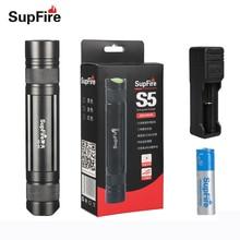ФОТО led flashlight torch light supfire s5-r5 aluminum ip6-7 waterproof cree xpe 450lm lantern portable light with 18650 battery s003