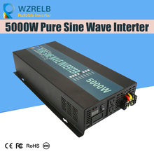 Peak Full Power 5000w Pure Sine Wave Inverter Solar System Transformers DC to AC Converter DC 12V / 24V / 48V /  110V off grid pure sine wave solar inverter 24v 220v 2500w car power inverter 12v dc to 100v 120v 240v ac converter power supply