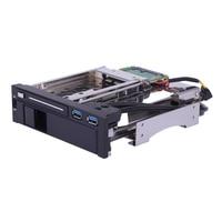Dual Bay 3.5 + 2.5 Inch USB 3.0 Port SATA III Hard Drive HDD & SSD Tray Caddy Internal Mobile Rack Enclosure Docking Station
