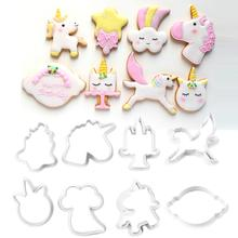 Biscuit Mold Cookie-Cutter Unicorn Embossing Baking-Tool Chocolate-Cake Fondant DIY Innovative