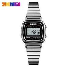 SKMEI Дамская мода часы Роскошные Водонепроницаемый обратного отсчета 12/24 час цифровой женские наручные часы женщина Relogio Feminino Montre Femme