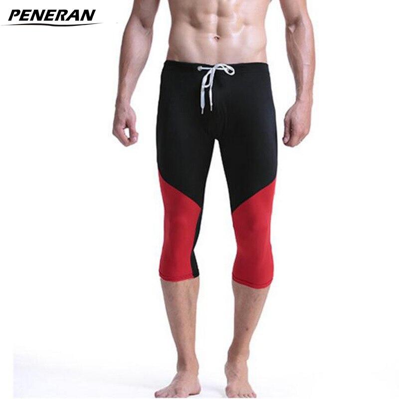 PENERAN Swimwear Men Swimming-Trunks Bathing-Clothes Beach-Shorts Brand Long Fit Dry
