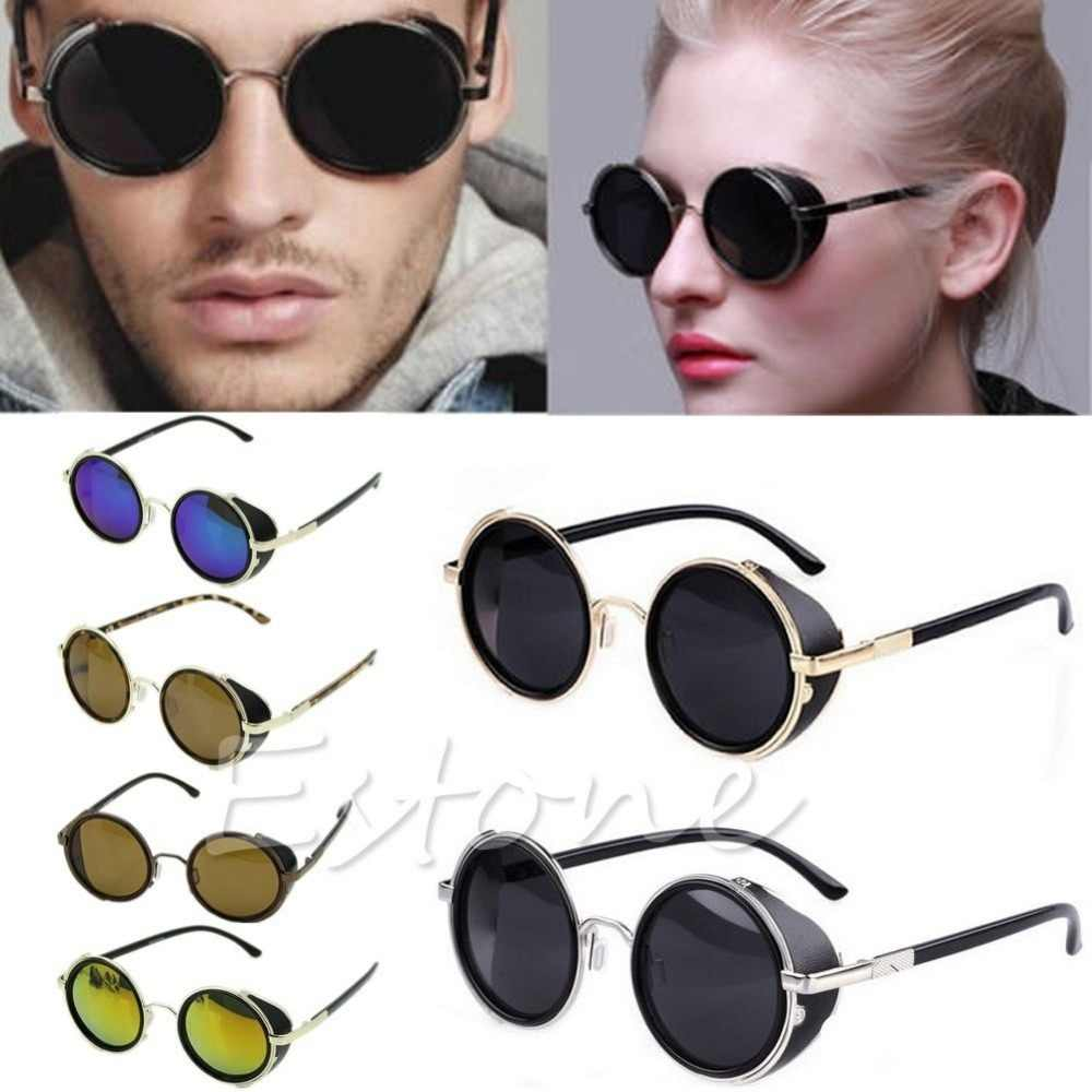 Cyber Goggles Vintage Retro Blinder Steampunk Sunglasses 50s Round Glasses F05