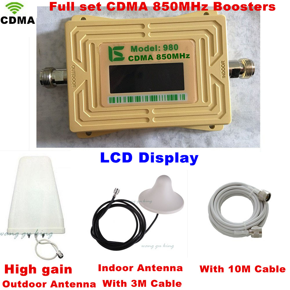 2 Year Warranty GSM 850 Cellular Signal Repeater CDMA 850 Mhz Mobile Signal Amplifier GSM 850 Cell Phone Booster Full Kit
