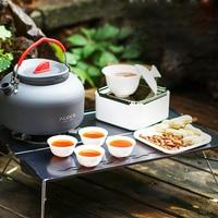 1.4l портативный ультра легкий Открытый Туризм Кемпинг Пикник набор воды чайник заварник для чая и кофе анодированный алюминий