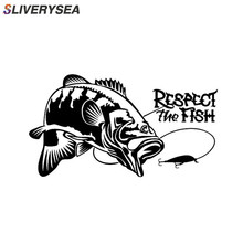 SLIVERYSEA Respect the Fish The Fishing Boat Hunting Vinyl Car Sticker Decal Stickers Accessories