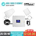 Усилитель Lintratek 2g 3G 4g диапазона 900 1800 2100 GSM WCDMA UMTS LTE сотовый ретранслятор домашние усилители домашние тройной band сотовый телефон усилитель си...