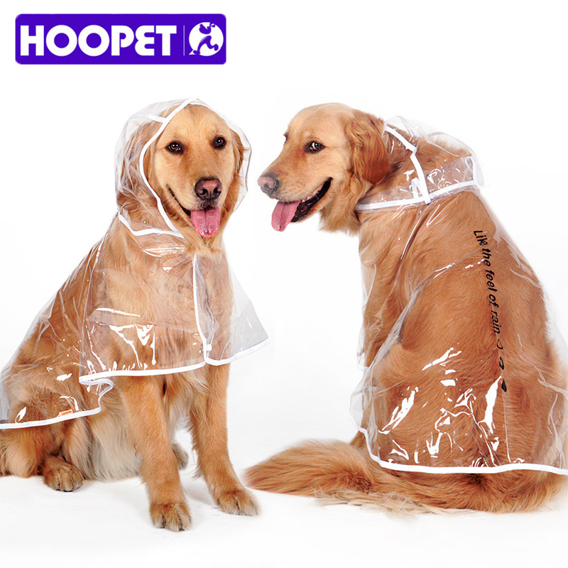 Waterproof Big Dog Rain Coat Cover EVA Raincoat Cloth Transparent Dog Rain Poncho for Large Dogs 3XL-7XL