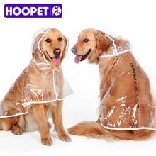 Waterproof Big Dog Rain Coat Cover EVA Raincoat Cloth Transparent Dog Rain Poncho for Large Dogs 3XL-7XL