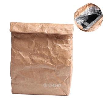 2018 new summer picnic bags for women men kid Waterproof Insulation lunch Bag 6L Thermal Food bags Cooler fold Kraft paper bags