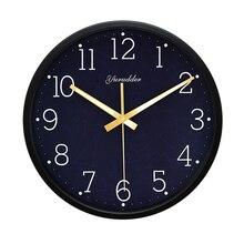 新加入12インチ宇宙デザインメタルフレーム現代ファッションラウンド壁時計luminova装飾壁時計