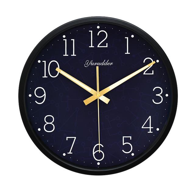 Newest 12 Inches The universe Design Metal Frame Modern Fashion Round Wall Clock LUMINOVA Decorative Wall clock